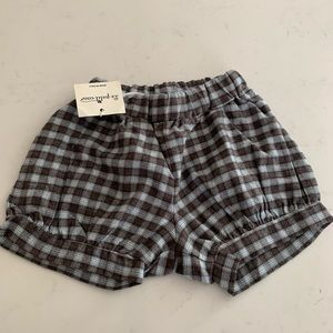 Boys flannel plaid bloomers shorts NWT Italy